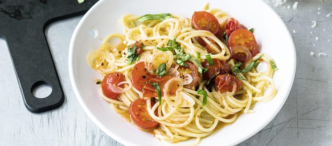 Grundrezept: Spaghetti mit Tomaten