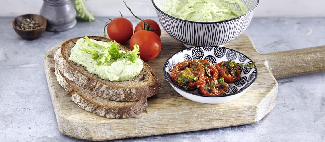 Sandwich mit Grünkohlcreme