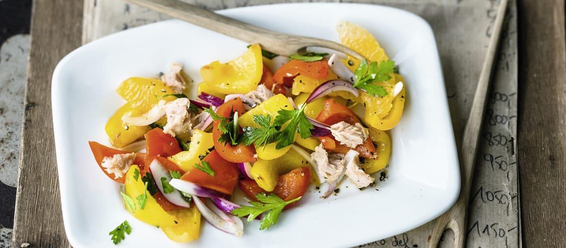 Paprika-Thunfisch-Salat