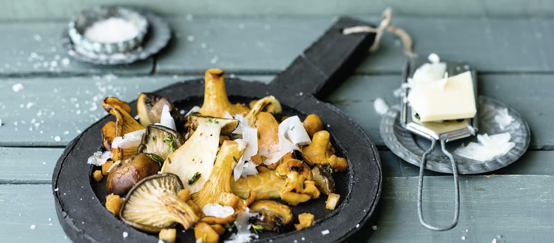 Gebratene Pilze mit Manchego