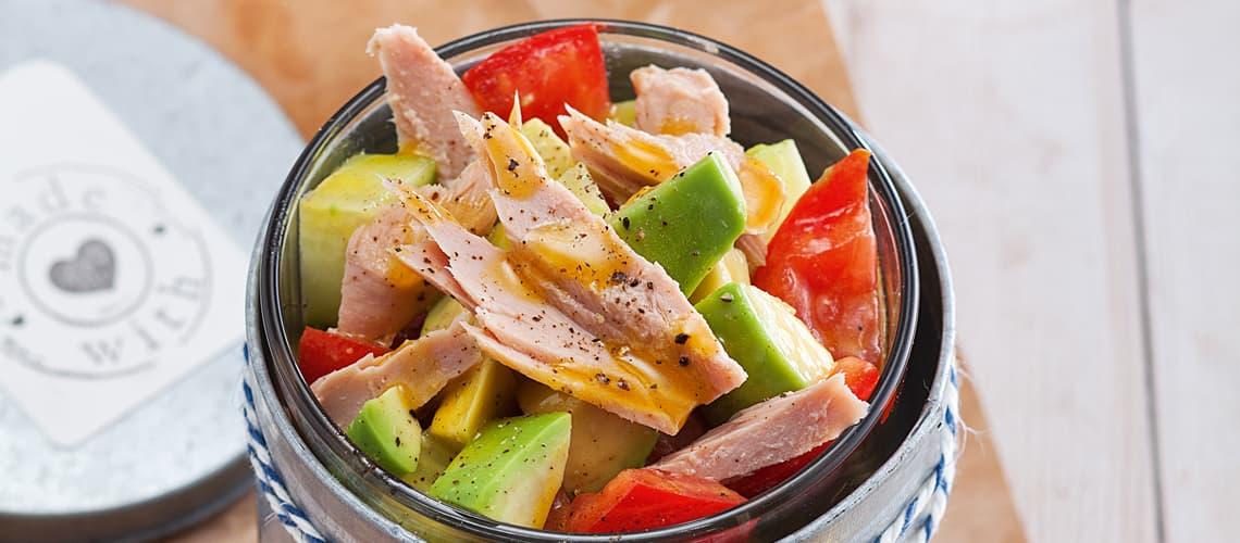 Avocadosalat mit Thunfisch