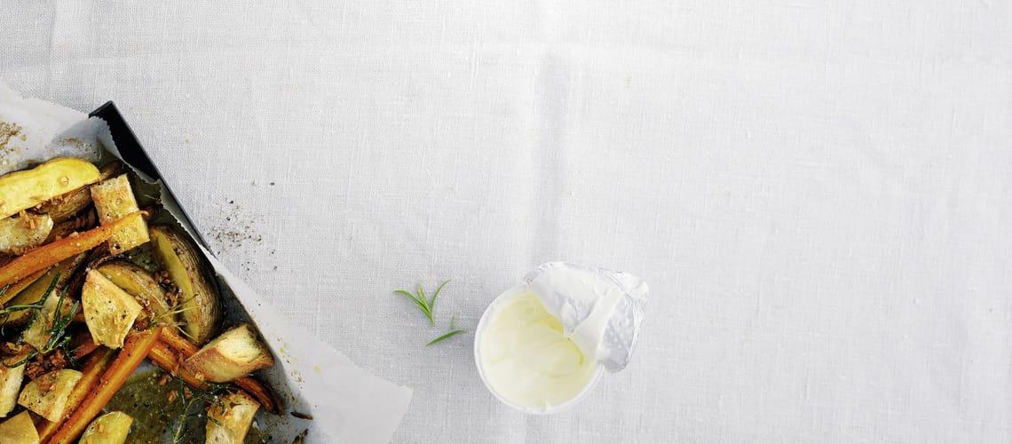 Ofengemüse mit Crème fraîche