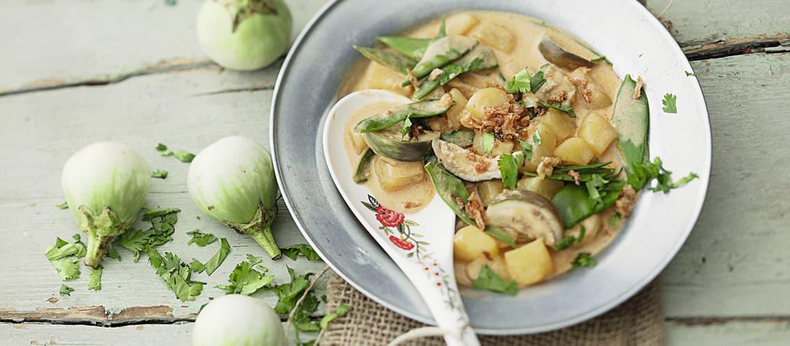 Auberginen mit Kartoffeln