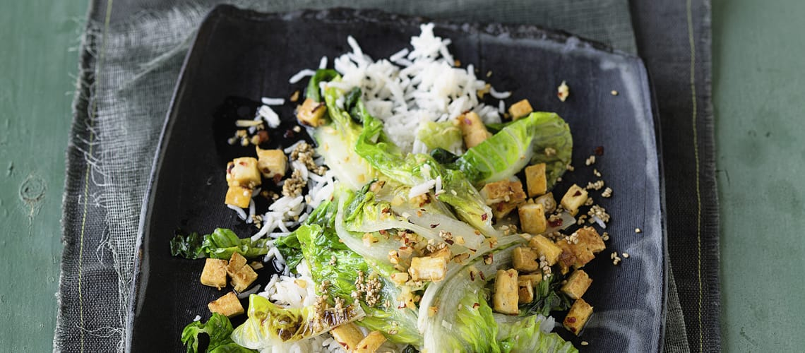 Würziger Tofu mit Romana