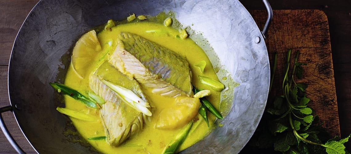 Seelachs in Currysauce
