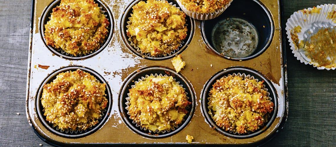 Sesam-Apfel-Kokos-Muffins