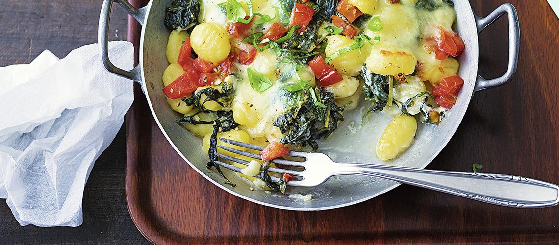 Gnocchi-Auflauf mit Tomaten