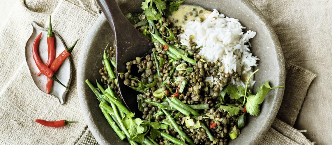 Bohnen-Curry mit Linsen