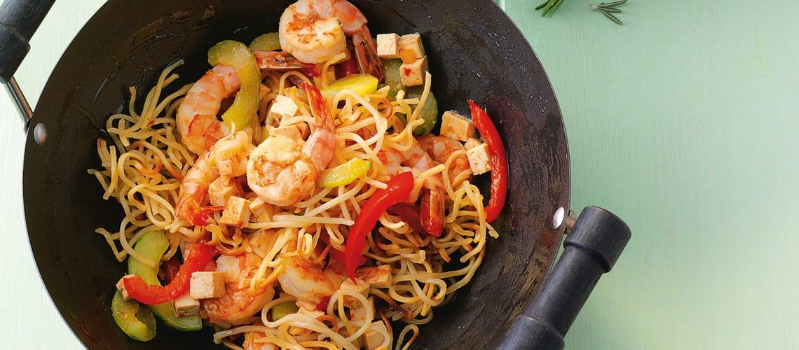 Spaghetti mit Sojasugo