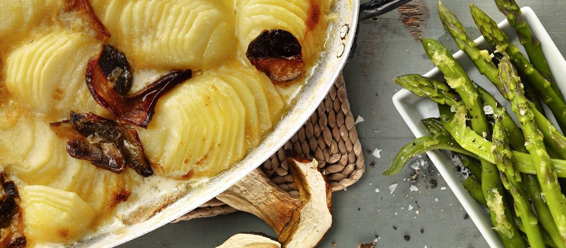 Steinpilz-Kartoffelgratin