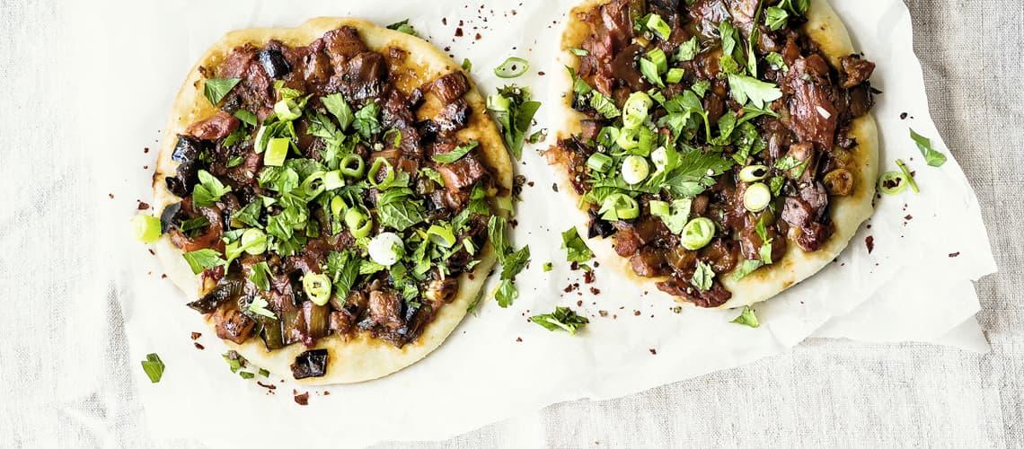 Auberginen-Pizza türkische Art