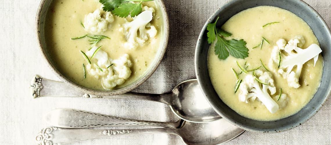 Blumenkohl-Ingwer-Suppe