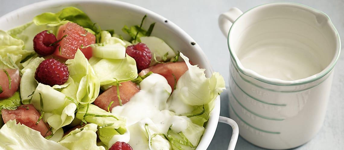 Kopfsalat mit Melone