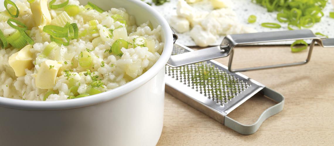 Kohlrabi-Risotto mit Kalbsschnitzel