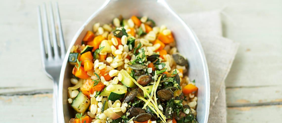 Gemüsepfanne mit Kräutern