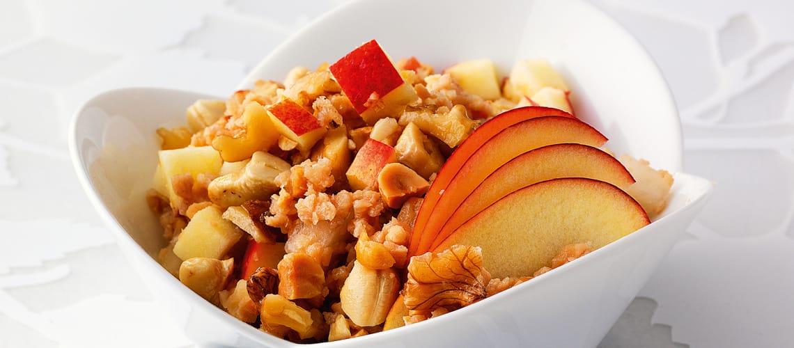 Sojamüsli mit Honig und Nüssen
