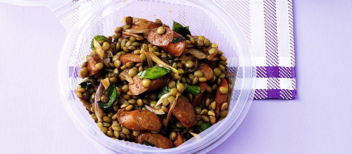Linsen-Debreziner-Salat