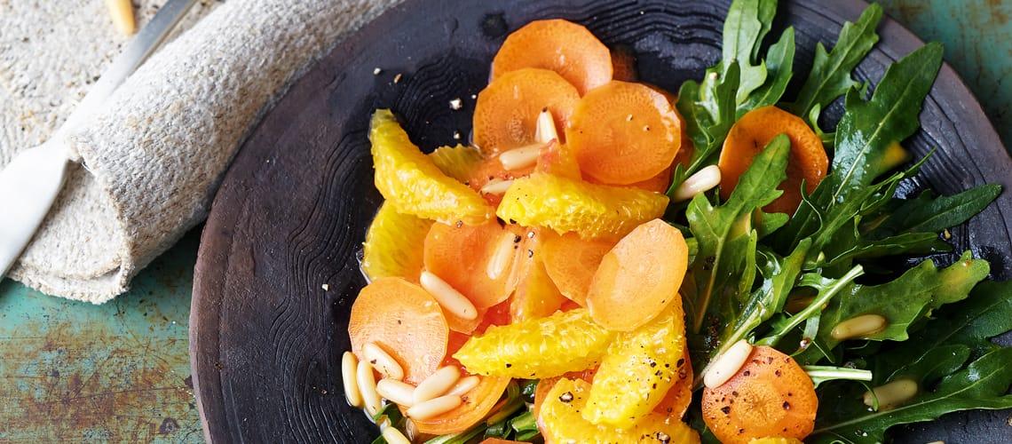 Möhren mit Orangen und Harissa
