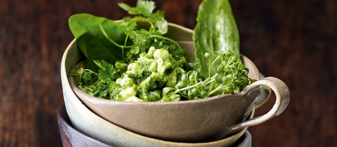 Heilbutt-Ceviche mit Grüner Sauce